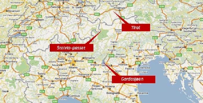 kart over alpene Kjør mektige alpepass i sommer   Telenor kart over alpene