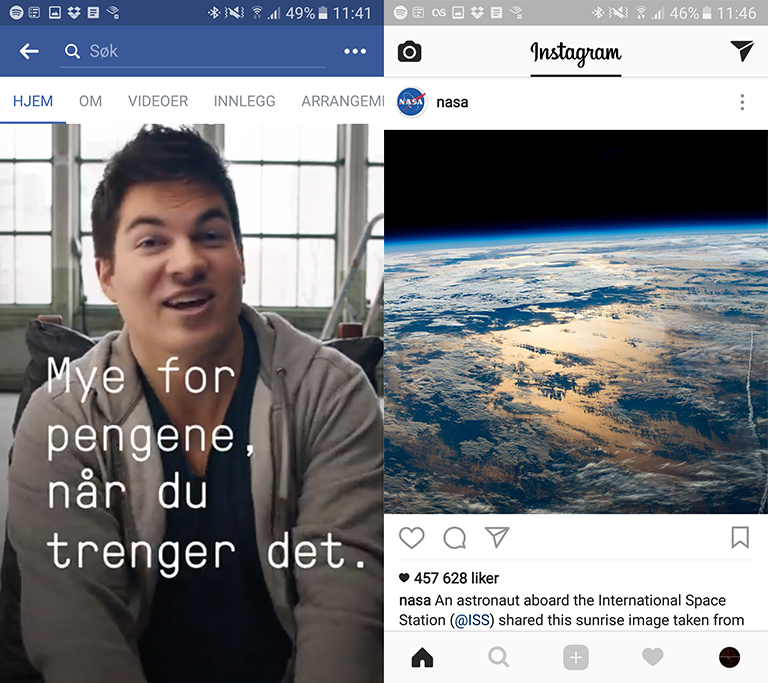 Facebook og Instagram