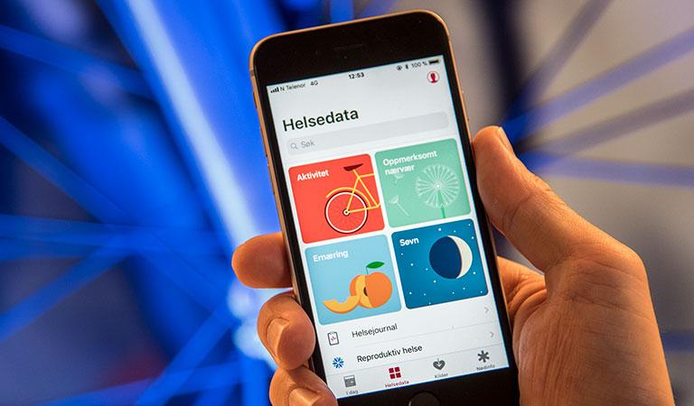 helse app iphone skritteller