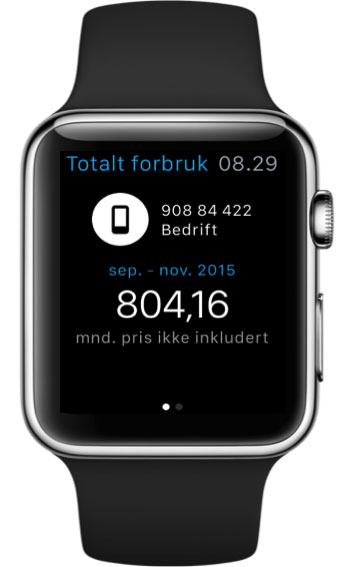 Mitt Telenor på Apple Watch