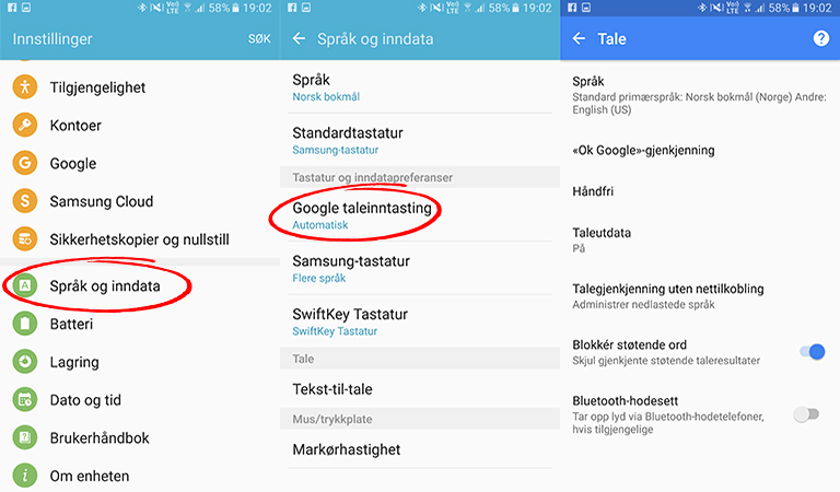 Diktering: Android mobil