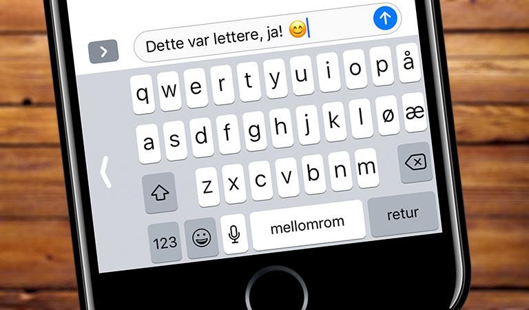 Så enkelt sparer du tid på iPhone tastaturet Telenor