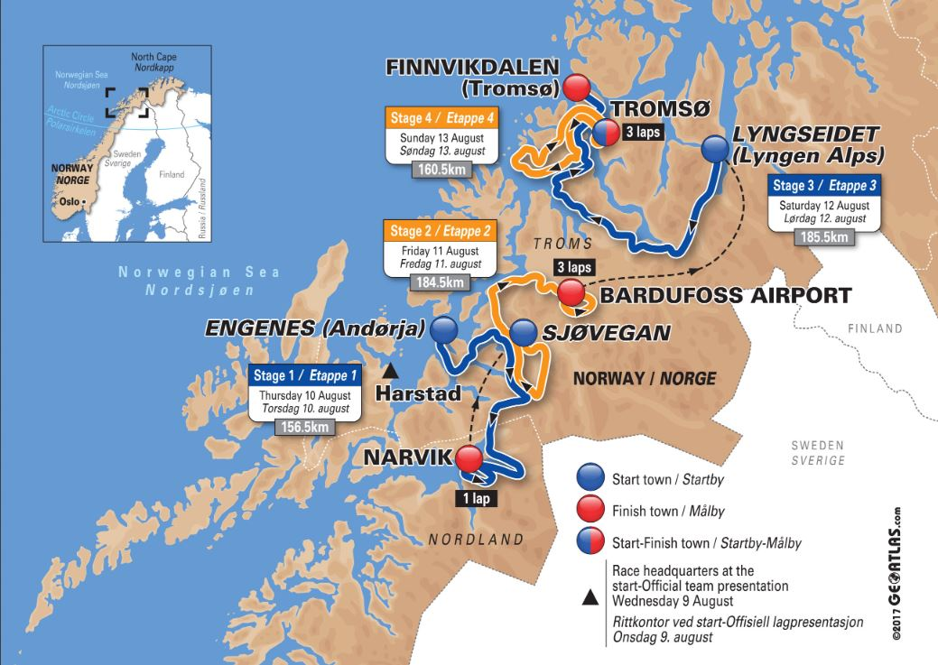 Trasé Arctic Race of Norway